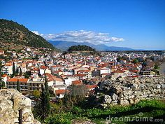 Town of Nafpaktos Greece