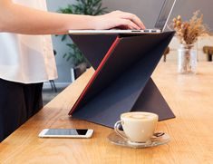 Have a height-perfect desk anywhere you'd like with LEVIT8, the flat folding portable standing #desk. #workspace