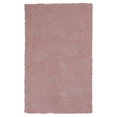 """Rose Pink Solid Shag or Flokati Accent Rug - (2'3"""" x 3'9"""") - Kas Rugs"""