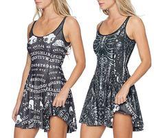 Ouija Board Black vs Mermaid Bones Inside Out Dress - LIMITED (AU $170AUD) by BlackMilk Clothing