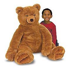 Melissa & Doug - Jumbo Brown Teddy Bear - Plush