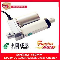 """Free Shipping high quality 2""""/50mm Stroke 12/ 24v electric linear actuator, Max Load 1000N/225LBS/100KGS linear actuator"""