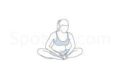 Bound angle pose (baddha konasana) instructions, illustration, and mindfulness practice. Mindfulness Practice, Guided Meditation, Yoga Sequences, Yoga Poses, Yoga Illustration, Work Pictures, Yoga Motivation, Standing Poses, Health Insurance Companies
