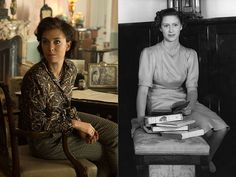 In season we see Queen Elizabeth played by Olivia Colman and Princess Margaret played by Helena Bonham Carter. How closely do the actors resemble their real-life counterparts? Vanessa Kirby The Crown, Captain Peter Townsend, Crown Netflix, George Vi, Fun Loving, British Actresses, Queen Elizabeth Ii, Movies And Tv Shows, Father