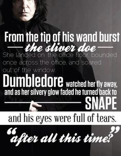My favorite part of the whole series.... Fell in love with Snape