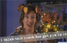 Day 11 of the Miranda Advent Calendar: I think this Runch has got Pum in it! Miranda Hart Quotes, Vicar Of Dibley, Everybody Love Raymond, Tv Show Quotes, Movie Quotes, Bridget Jones, Will And Grace, Hooray For Hollywood, Christmas Movies