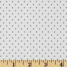 Riley Blake Swiss & Dots White/Gray Fabric By The Yard
