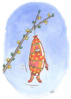 Wurst des Tages Sammelmappe 5: Das Osterdekorationswürstchen, nicht gerade begeistert