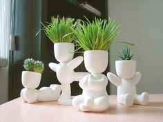 New Succulent Painting Ceramic Ideas Clay Projects, Clay Crafts, Succulent Pots, Succulents, Potted Plants, Indoor Plants, Ceramic Planters, Planter Pots, Plant Decor