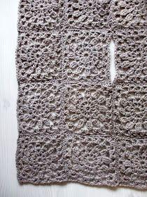 omⒶ KOPPA: Kukkamandalaruutu - VILLATAKKI - omA variaatio Crochet Coat, Crochet Cardigan, Crochet Clothes, Crochet Symbols, Crochet Stitches, Doily Art, Mandala Yarn, Crochet Squares, Cardigans For Women