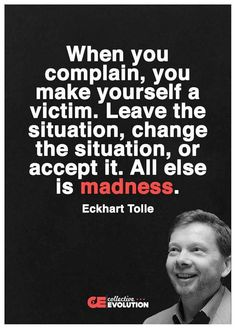 Take charge of yourself