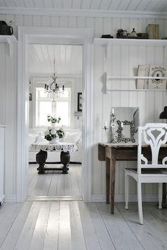 White interior . .