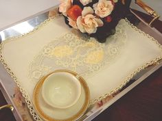 Tray cloth elegant breakfast Placemat doily by ClassyInteriorsDeco, $49.50