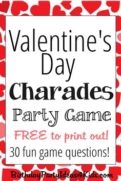 20 Valentine's day games for children and adults DIY game Kinder Valentines, Valentines Day Activities, Valentines Day Party, Valentines Games For Couples, Valentine Crafts, Valentine's Day Party Games, Tween Party Games, Sleepover Games, Party Fun
