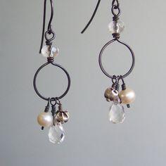 Dogwood Earrings by creativelystoned on Etsy, $40.00