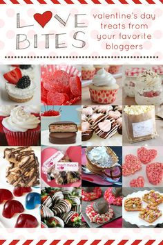 Love Bites! 16 awesome Valentine's Day recipes from your favorite bloggers! // the baker upstairs http://www.thebakerupstairs.com