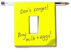 post-it switch plate