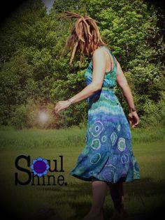 Hippie Chic Women's SPINNER Midi DRESS Medium by SoulShineMaine #soulshinemaine #tiedye #hippiechiq #rainbowwarriorprincess