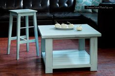 """Painted with Annie Sloan Chalk Paint in """"Duck Egg Blue"""""""