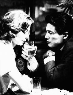"""Hiroshima mon amour"" Alain Resnais, 1959 - Elle (Emmanuelle Riva) and Lui (Eiji Okada)"