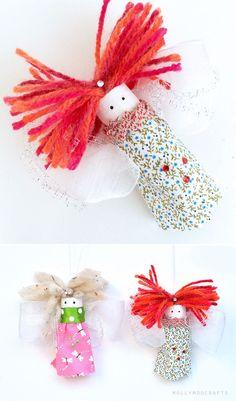Wine Cork Fairies - turn wine corks into adorable easy-to-make pocket fairies | MollyMooCrafts.com