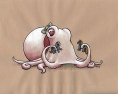 Albino Octopus by MegLyman.deviantart.com on @deviantART