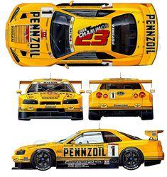 Mercedes dtm blueprint racing car blueprint pinterest cars nissan skyline r34 gt r pennzoil pennzoil zexel jgtc smcars malvernweather Gallery