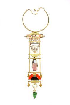 Manish Arora for Amrapali Nolla enamelled necklace.