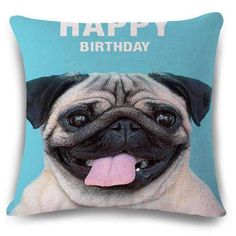 PUGTASTIC throw pillow case