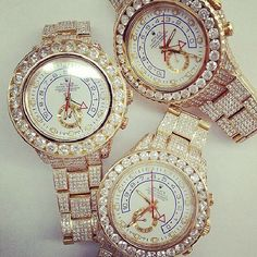 rolex with diamonds :'D
