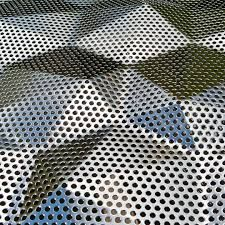 Perforated metal sheet - CRYSTAL 100 - Fielitz - stainless steel / aluminum / for interior Perforated Metal Panel, Metal Panels, Stainless Steel Sheet, Stainless Steel Tubing, Conquistador, Patterned Sheets, Garbage Can, Aluminium Sheet, Sheet Metal