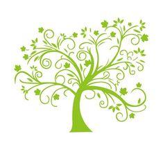 Abstract Green Tree Vector Illustration