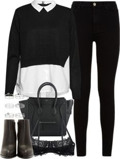outfit for an interview in the winter by ferned featuring black
