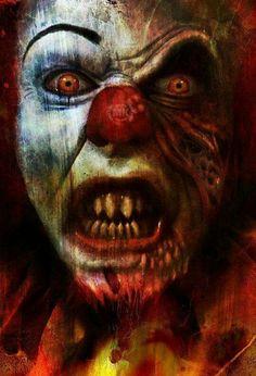 Pennywise ~ Cool Digital Art by Mary Khaos Imagerie Arte Horror, Horror Art, Creepy Horror, Horror Icons, Clown Tattoo, Creepy Clown, Joker Clown, Clown Meme, Creepy Pics
