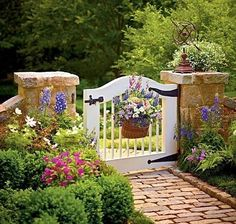 Short stone fence with gate