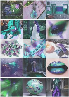 fuchsite witch fuchsite chrome mica gemstone crystals witch witchcraft fantasy magic wicca green mint mint green turquoise seafoam purple lavender purple and green Aesthetic moodboard fuchsite aesthetic witch aesthetic Color Inspiration, Character Inspiration, Character Design, Witch Aesthetic, Aesthetic Collage, Wiccan, Magick, Witchcraft, Mood Colors