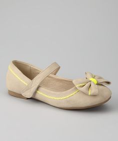 Take a look at this Taupe Kikidy Mary Jane by Dotty Shoes on #zulily today!