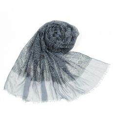 http://www.artfire.com/ext/shop/studio/bohemiantouch/1/1/10311//  Medium Grey Unisex Print Cotton scarf with tassel trimmed edges Soft Touch Fashion Shawl Scarf, scarf is a great addition to your collection of fashion accessories. Perfect for all year round.
