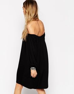 Enlarge ASOS Swing Dress with Off Shoulder Gypsy Detail
