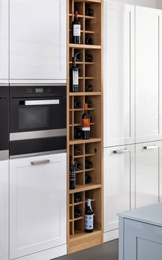 Kitchen | LEICHT – Modern kitchen design for contemporary living. Wine storage in the kitchen.