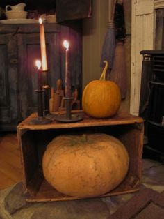 ..rustic decor with pumpkins