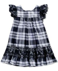 Sweet Heart Rose Eyelet-Embroidered Plaid Dress, Toddler Girls (2T-5T) | macys.com