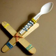 how to make a catapult with pencils and rubber bands