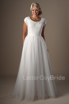 Modest Wedding Dresses : Roslyn. Available at Latterday Bride. Go to our website to see more. latterdaybride.com