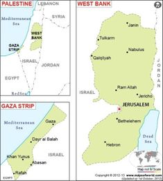"""Palestine (is """"in Israel"""") territories, remaining includes the West Bank and Gaza Strip. These two territories are claimed by the State of Palestine."""