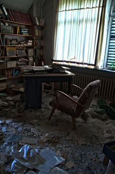 Abandoned doctor's office in Germany.