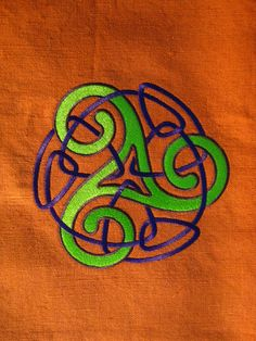 Celtic design embroidery