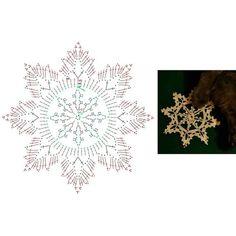 Crochet Snowflake Pattern, Crochet Stars, Crochet Snowflakes, Crochet Stitches Patterns, Doily Patterns, Crochet Motif, Crochet Doilies, Crochet Hooks, Stitch Patterns