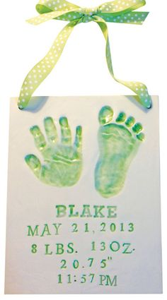 The perfect way to remember those tiny hands forever. Capture the babies prints by using the materials in our kit, mail them to our studio, and we make the final customized product. Check out our #Etsy store or online shop. We make it so easy. $79.99, Free shipping for Pinterest shoppers in our store. #newborn #momgift