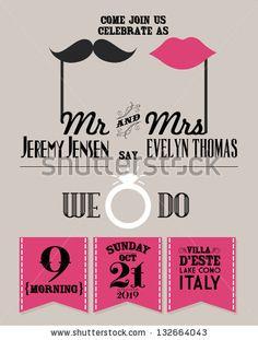 wedding invitation card template vector/illustration - stock vector